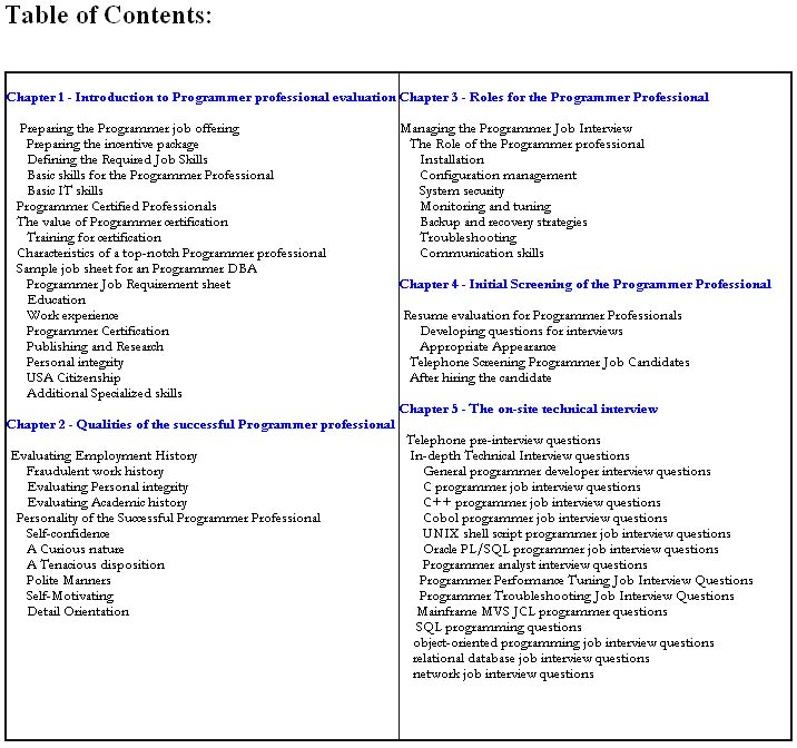 ... interview questions and computer programming job interview questions