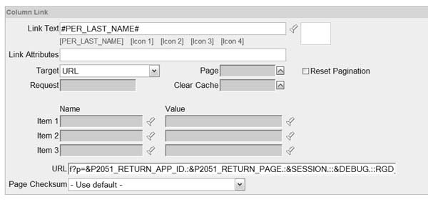 Oracle Application Express APEX: Calling reusable pages in