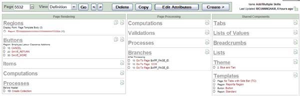Oracle Application Express APEX: Repeating updateable screen items