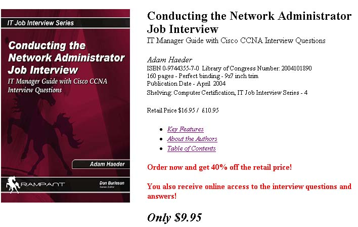 networking job interview questions - Network Administrator Interview Questions And Answers