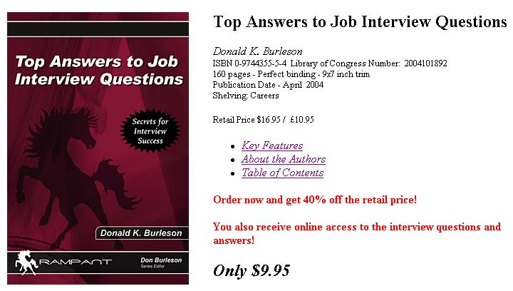 Burleson Consulting  Common Interview Questions