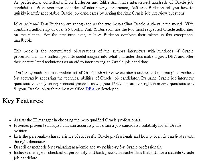 ORACLE INTERVIEW QUESTIONS EBOOK