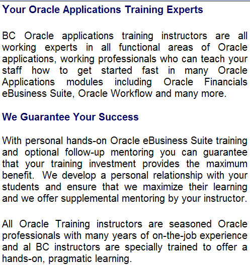 oracle training essay Pass your oracle exams easily - guaranteed get oracle certified with testking training materials: prepare your oracle certification exams with master essay.