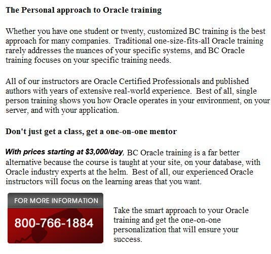 Oracle Classes