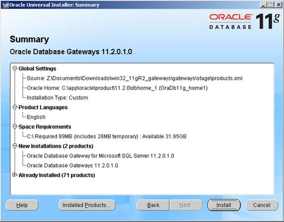 Connecting mssql to oracle