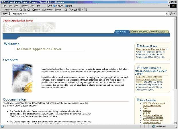 Installation Cookbook: Installing Oracle Application Server