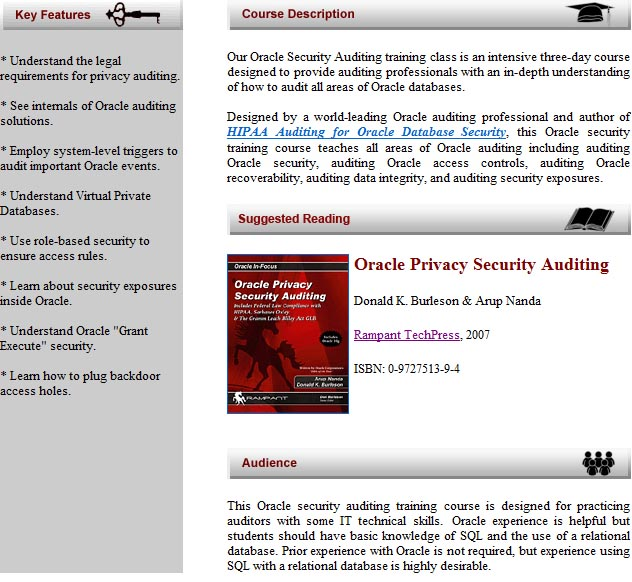 Oracle penetration testing